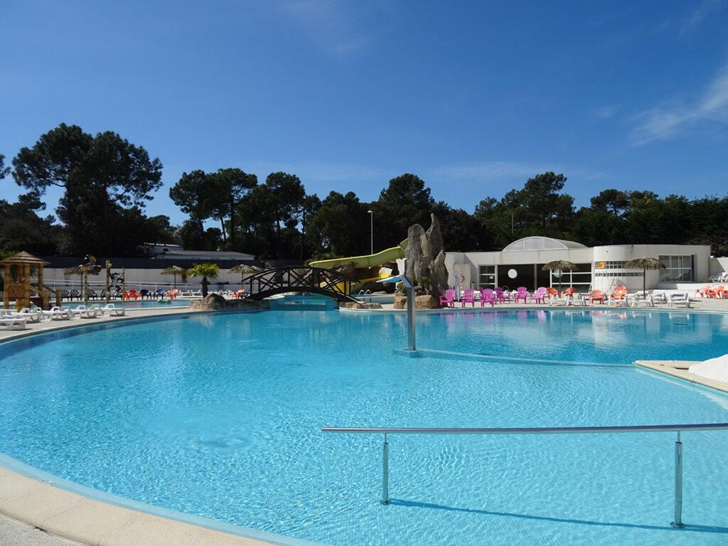 Location en Vendée - camping La Yole**** - Espace aquatique chauffé